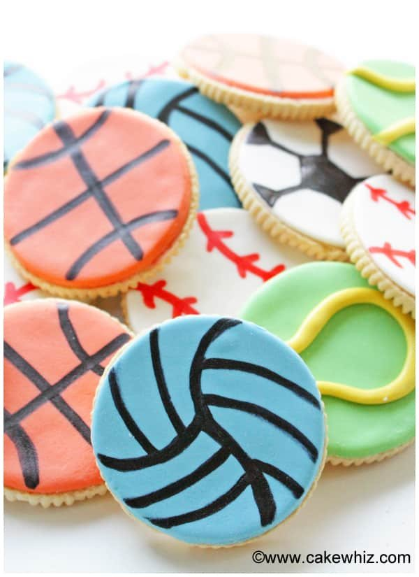 Easy sports ball cookies
