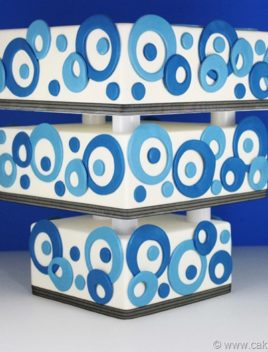 Upside Down Abstract Cake (Upside Down Tiered Cake)