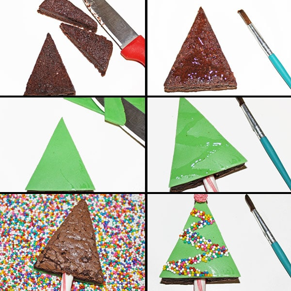 How to Make Christmas Brownies (Christmas Tree Brownies) - Step By Step Instructions