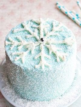 How To Make Snowflake Cake