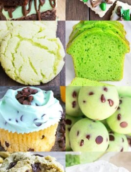 Collage of Many Green Desserts (St. Patrick's Day Desserts)