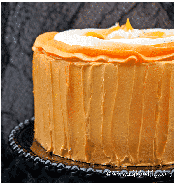 halloween candy corn cake 1