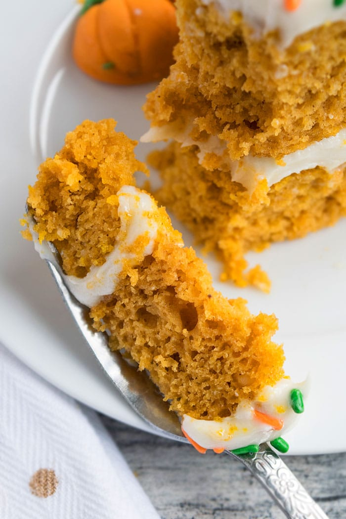Moist Pumpkin Cake Recipe with Cream Cheese Frosting