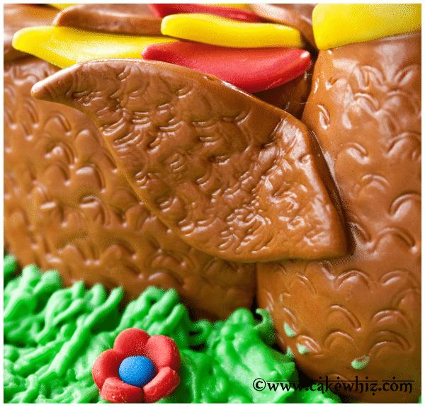 turkey cake tutorial 4