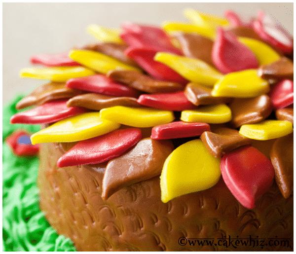 turkey cake tutorial 9