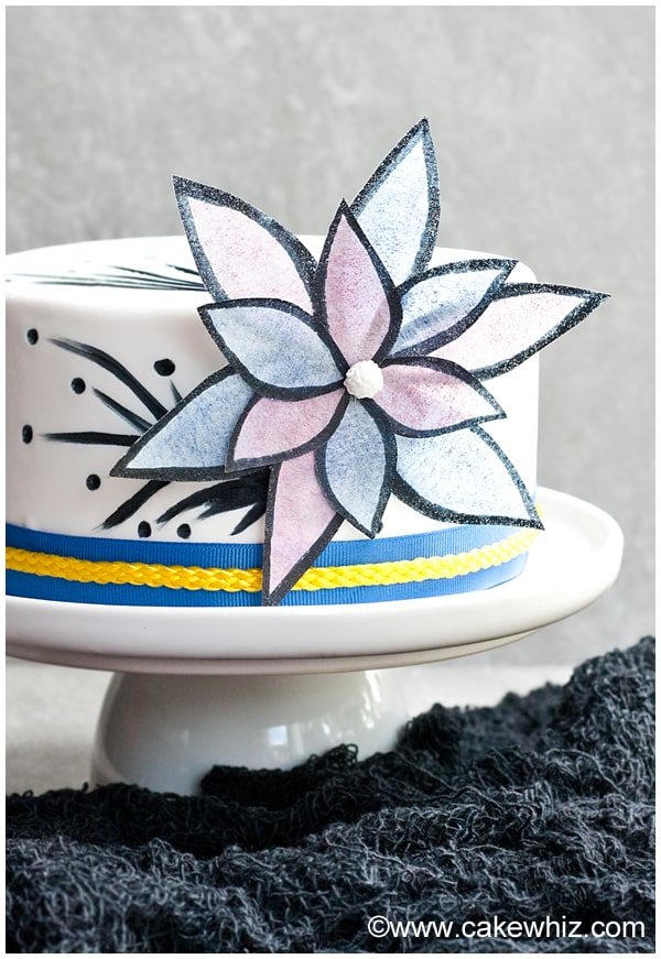 how to make easy wafer paper flowers 2