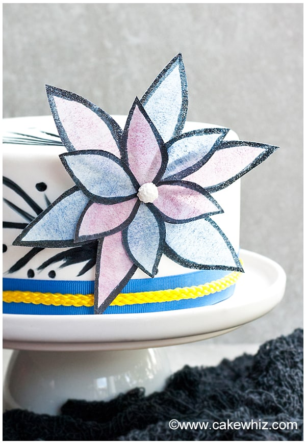 how to make easy wafer paper flowers 5