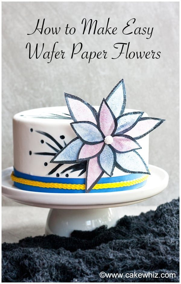 how to make easy wafer paper flowers 7