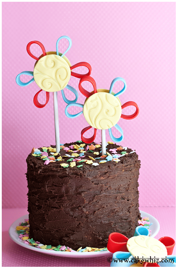 quilled flower cake