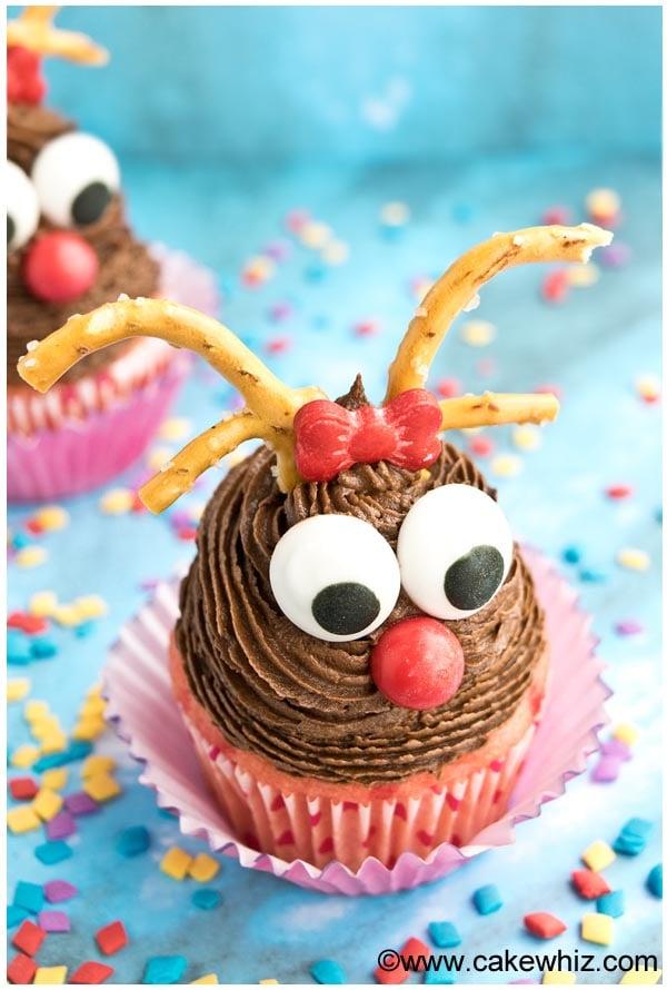 easy rudolph cupcakes 2