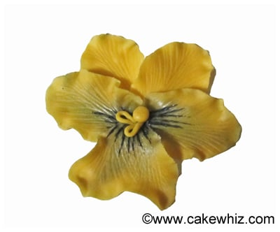 how to make fondant pansies tutorial 19