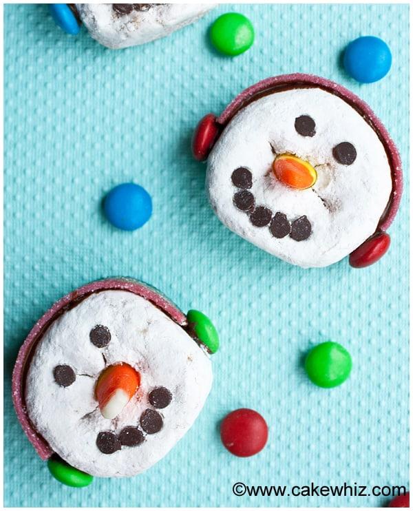 snowman donuts 1