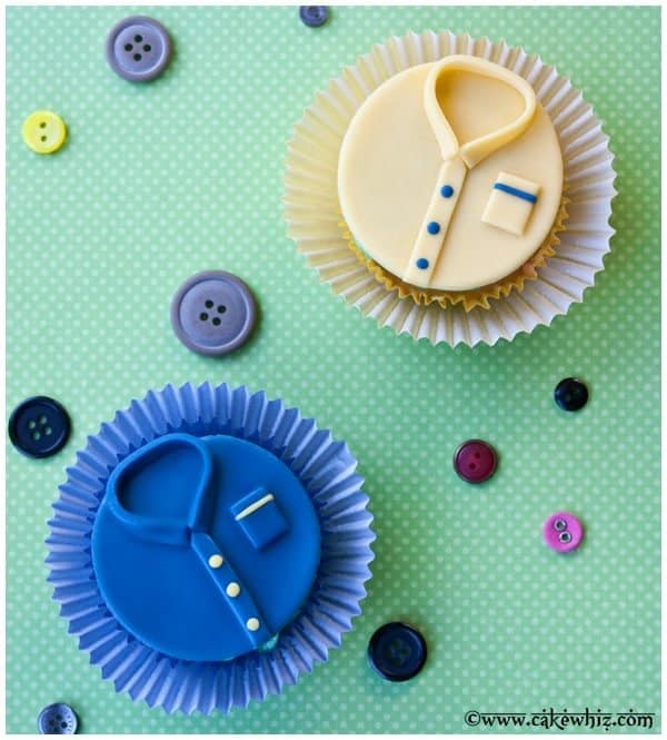 father's day shirt cupcakes