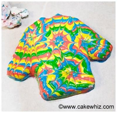 how to make a tie dye shirt cake 2