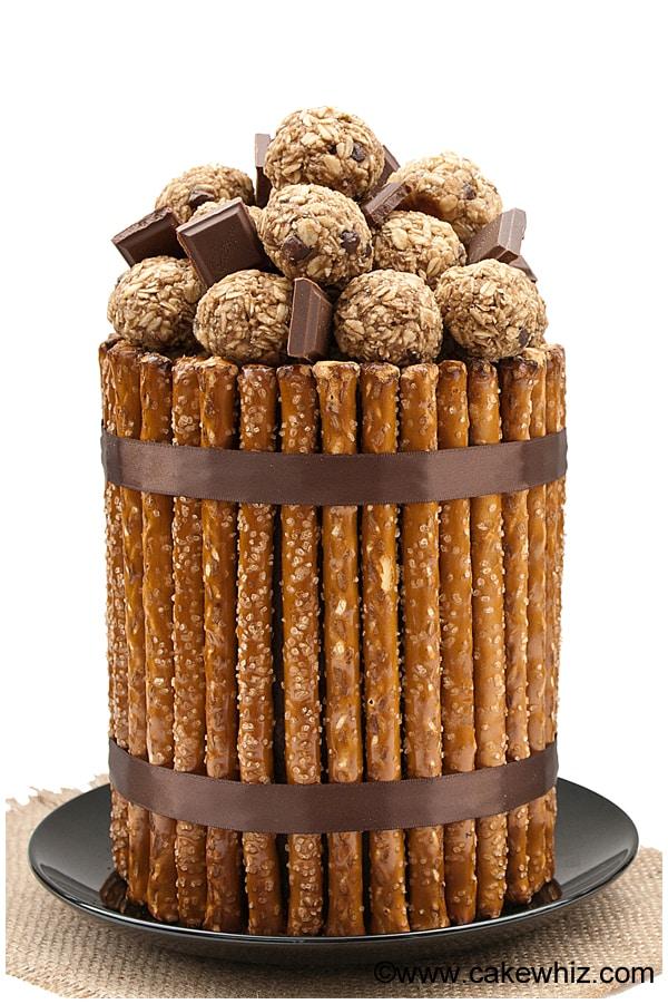 10 fun father's day ideas- pretzel cake