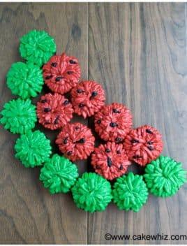 Watermelon Cupcakes (Pull Apart Cupcake Cake)