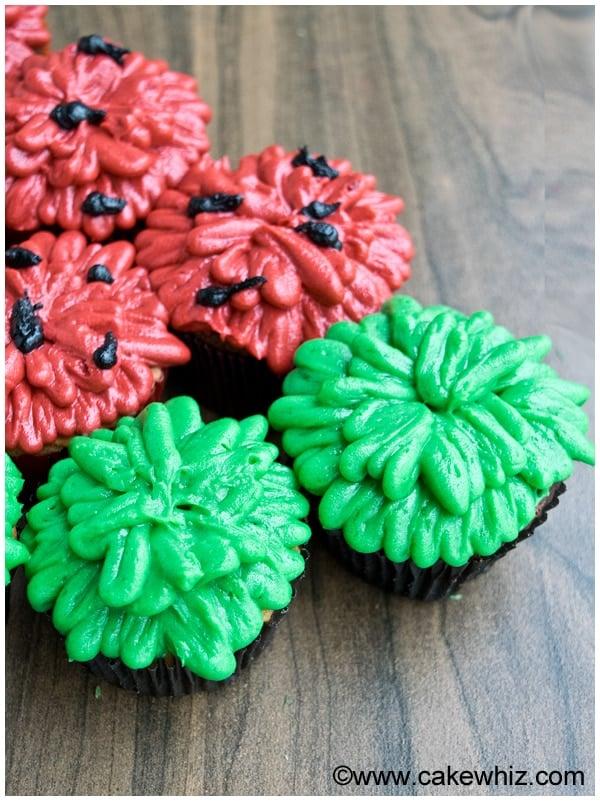Watermelon Cupcakes Recipe and Tutorial