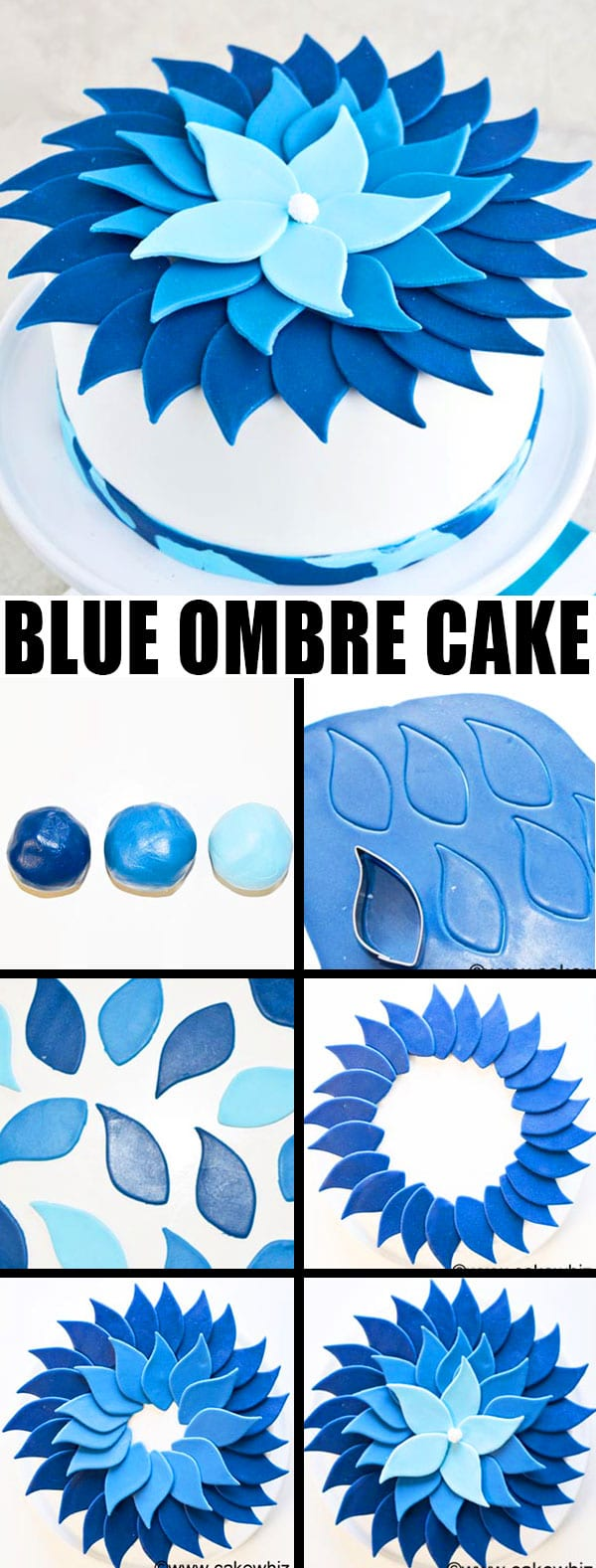 HOW TO MAKE OMBRE CAKE (BLUE OMBRE CAKE TUTORIAL)