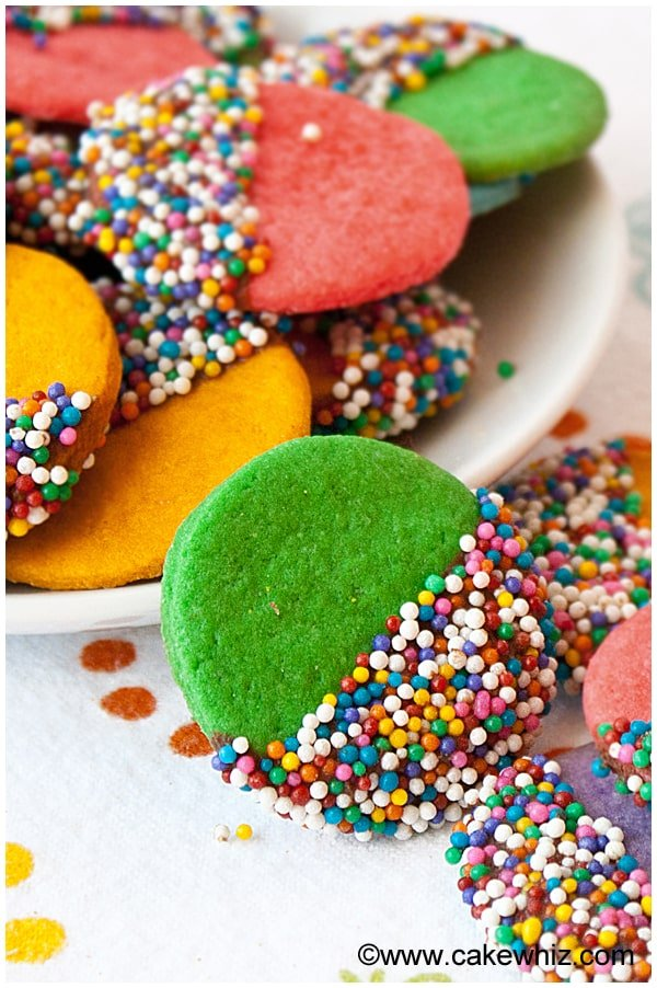 crispy rainbow sugar cookies 3