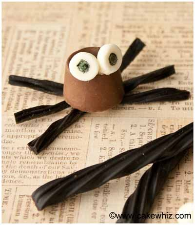 rolo chocolate spiders