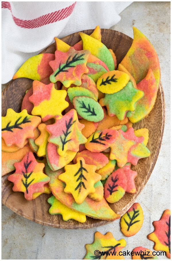 Easy Fall Cookies (Leaf Cookies) 1