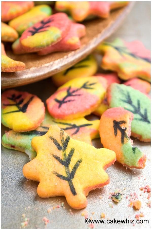 Easy Fall Cookies (Leaf Cookies) 2