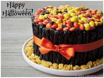 halloween twizzler cake