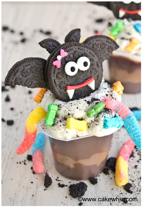 Halloween Dracula Pudding Cups