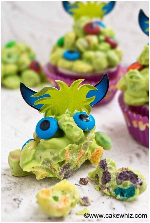 Cute Monster Cupcakes