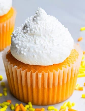 Easy Orange Cupcakes With Whipped Cream