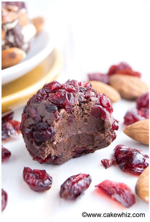 chocolate cranberry truffles 1