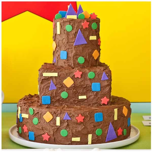 colorful shapes birthday party