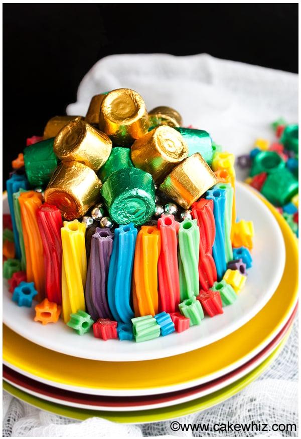 easy rainbow twizzler cake 1