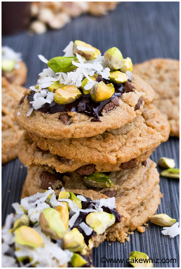 small batch healthy peanut butter chocolate chip cookies 2