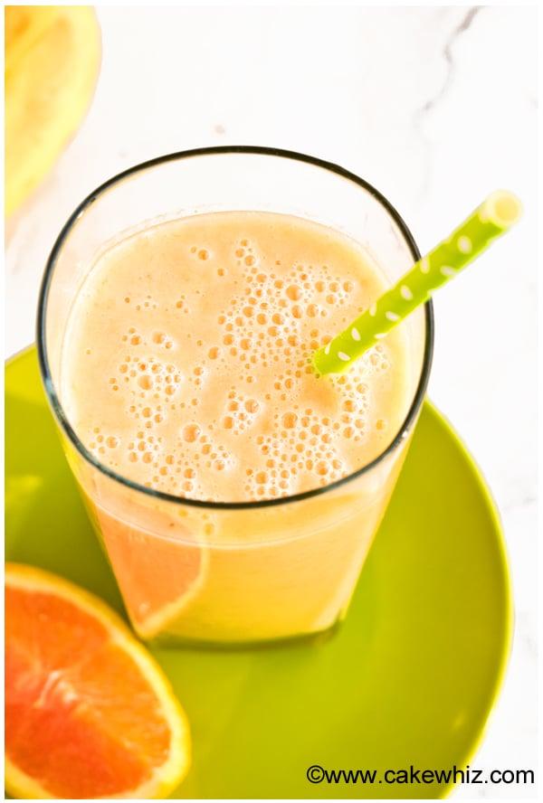 Tropical Banana Mango Smoothie Recipe