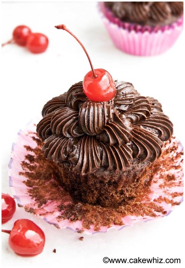 chocolate cherry cupcakes 6