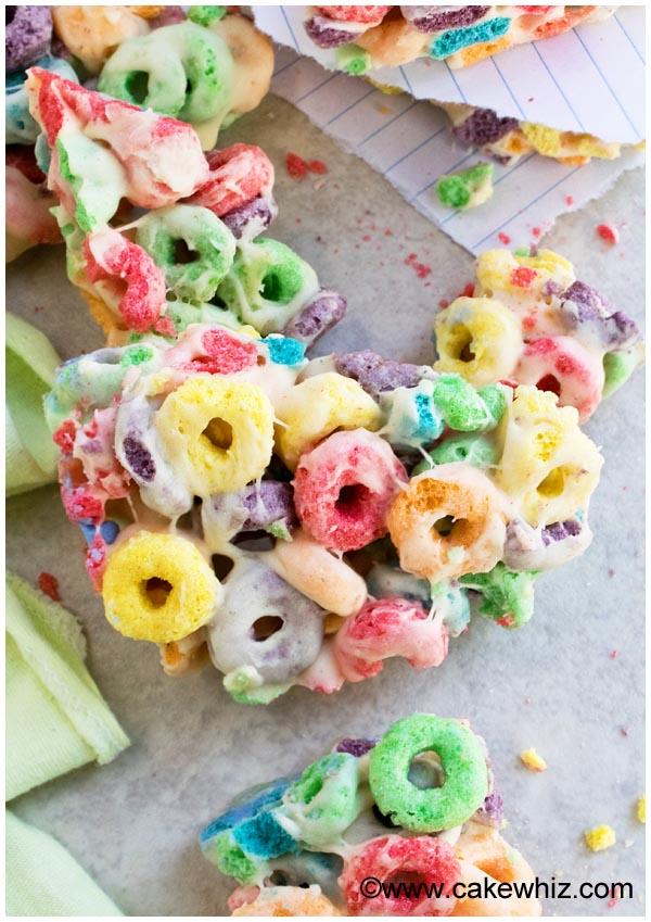 rainbow fruit loops marshmallow bars 5