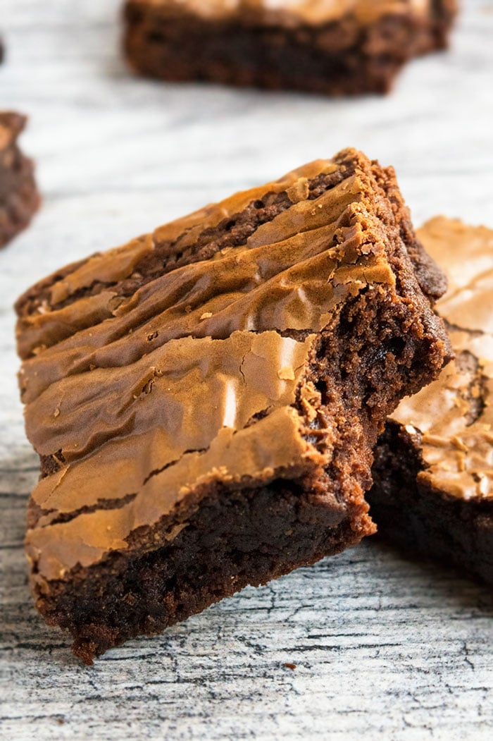 Best Nutella Brownies with Crackly Tops
