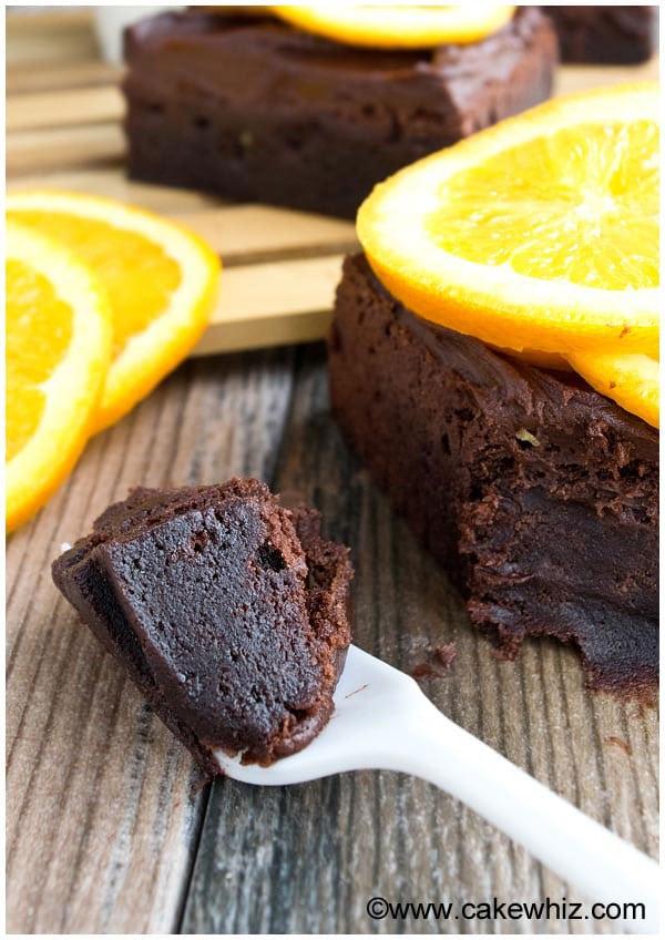 Fudgy Chocolate Orange Brownies Recipe 2