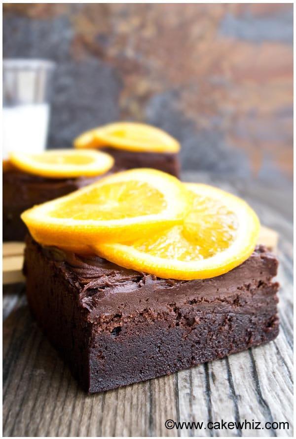 Simple Chocolate Orange Brownies 3