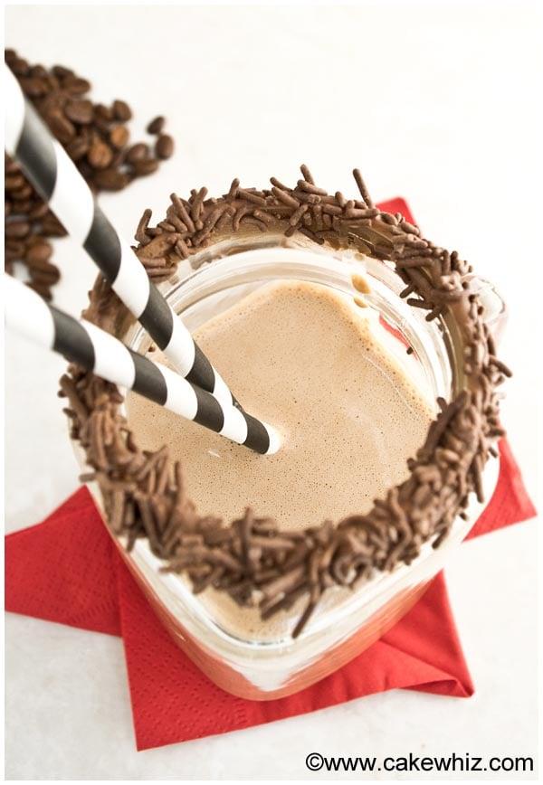 mocha smoothie 3