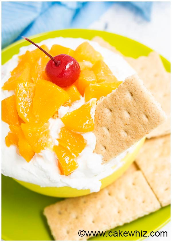 peaches and cream dip 7