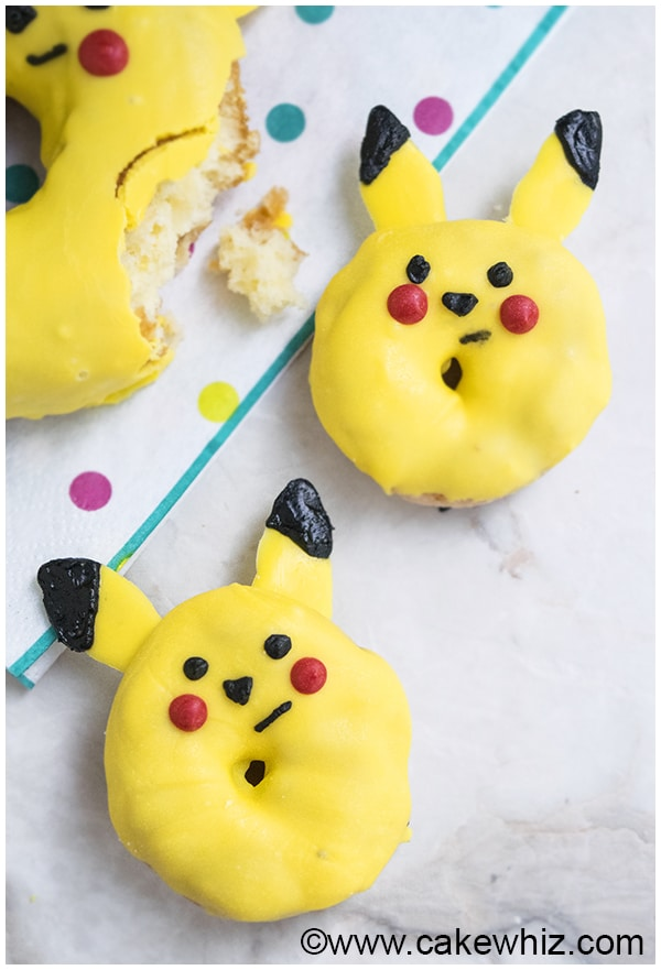 How to make Pikachu donuts from Pokemon 3