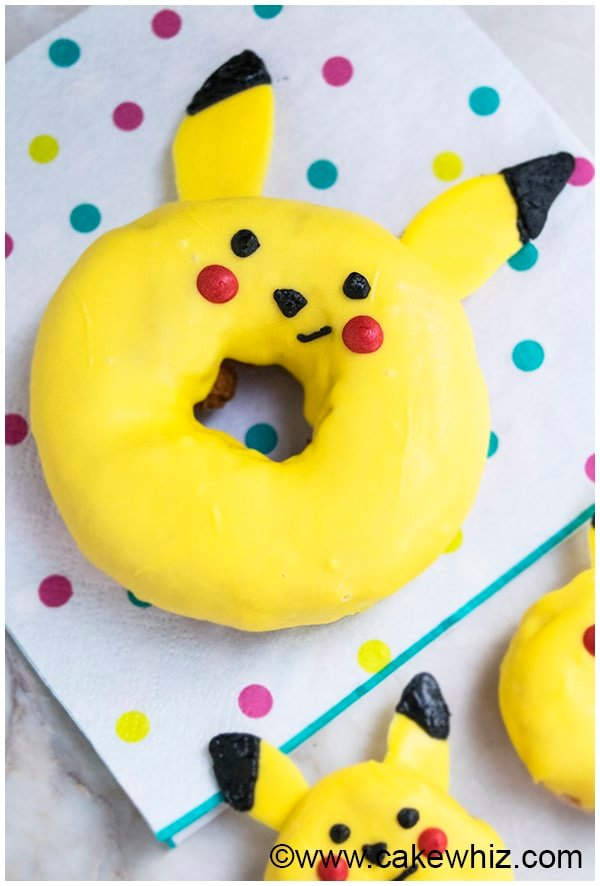 How to make Pikachu donuts from Pokemon 4