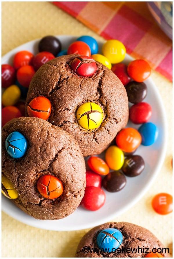 Cake Mix Chocolate M&M Cookies 3