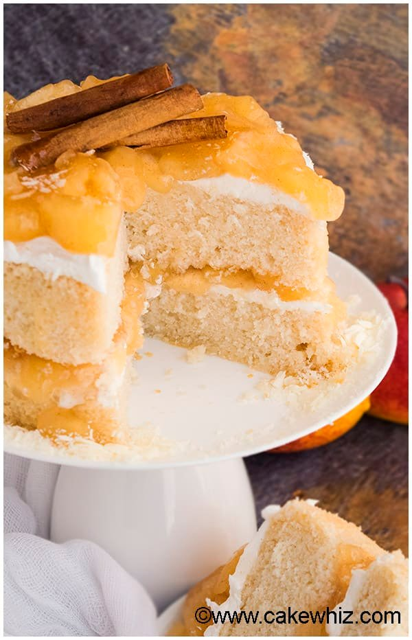 Apple Pie Cake with Apple Pie Filling and Buttercream Frosting