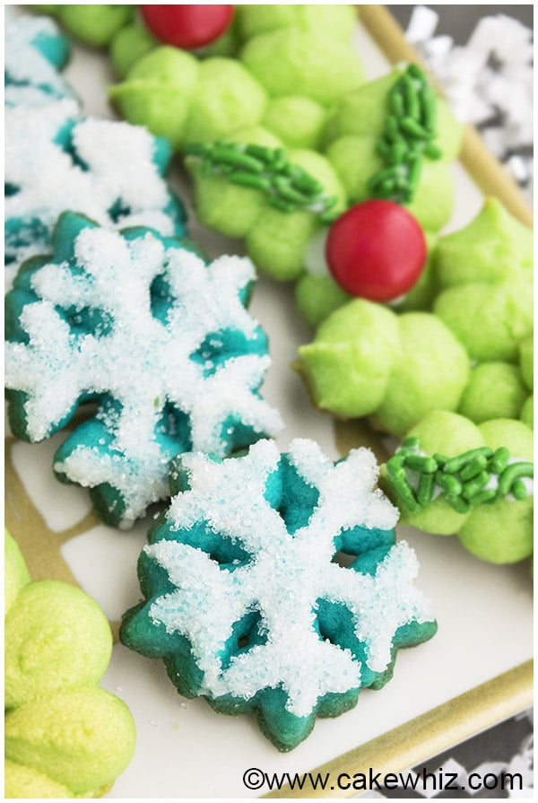 Classic Spritz Cookies Recipe- Snowflake Cookies 2