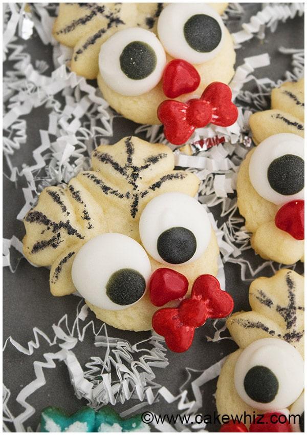 Easy Rudolph Cookies- Spritz Cookies 1