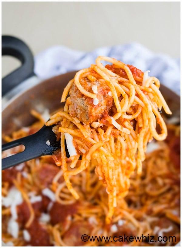 One Pot Spaghetti and Meatballs Recipe 6