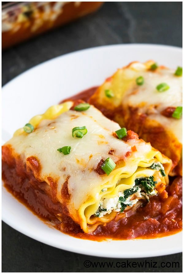 Spinach Lasagna Rolls Recipe (Spinach Lasagna Roll Ups) 4